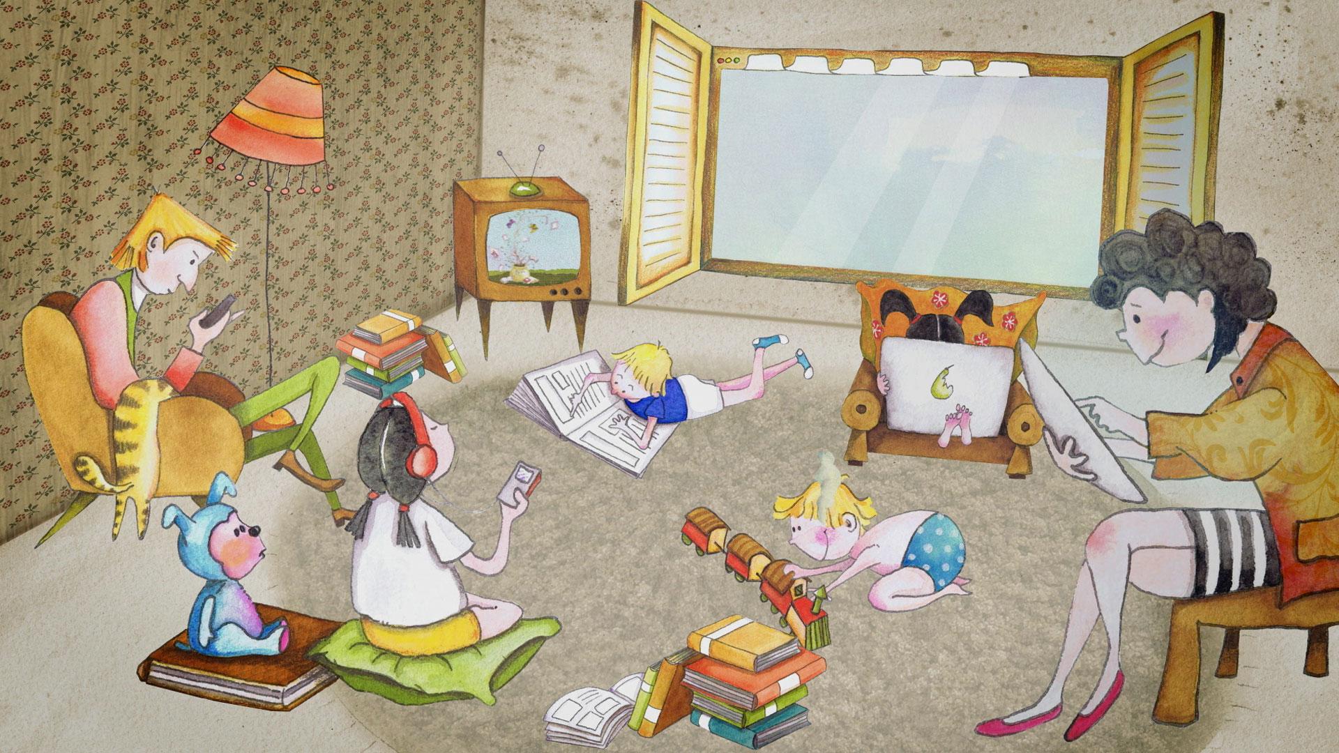 hansmann-animation-familie-sitzt-im-wohnzimmer